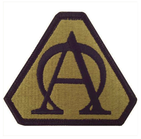 Vanguard ARMY PATCH: ACQUISITION SUPPORT CENTER - EMBROIDERED ON OCP