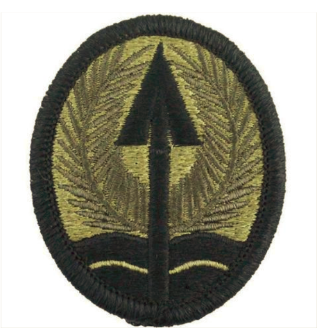Vanguard ARMY PATCH: U.S. ARMY ELEMENT MULTINATIONAL CORPS IRAQ - OCP