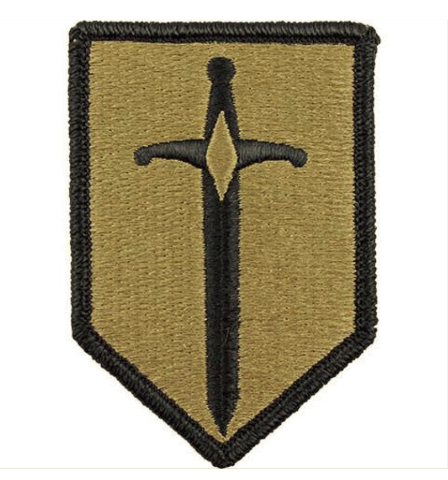 Vanguard ARMY PATCH: 1ST MANEUVER ENHANCEMENT BRIGADE - EMBROIDERED ON OCP