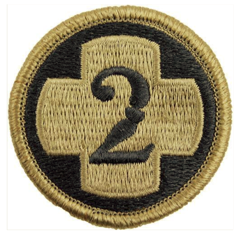 Vanguard ARMY PATCH: SECOND MEDICAL BRIGADE - EMBROIDERED ON OCP