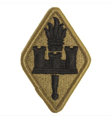 Vanguard ARMY PATCH: ENGINEER TRAINING SCHOOL - EMBROIDERED ON OCP
