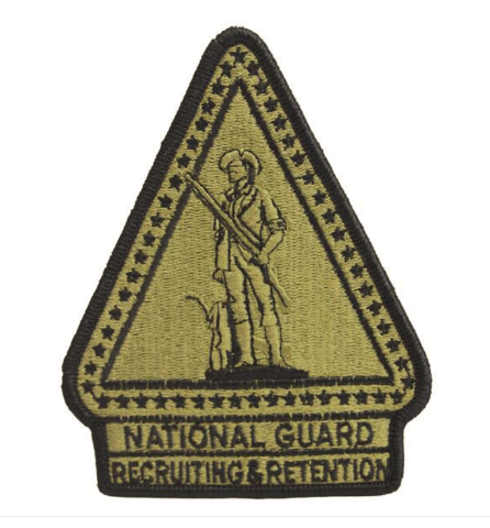 Vanguard ARMY PATCH: NATIONAL GUARD RECRUITING RETENTION - EMBROIDERED ON OCP