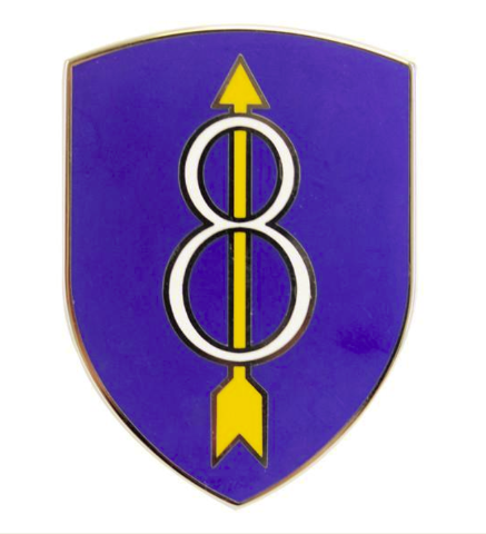 Vanguard ARMY COMBAT SERVICE IDENTIFICATION BADGE (CSIB): 8TH INFANTRY DIVISION