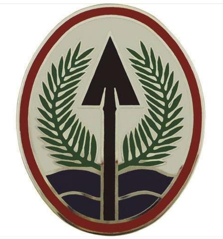 Vanguard ARMY COMBAT SERVICE IDENTIFICATION BADGE ELEMENT MULTI NAT'L CORPS IRAQ