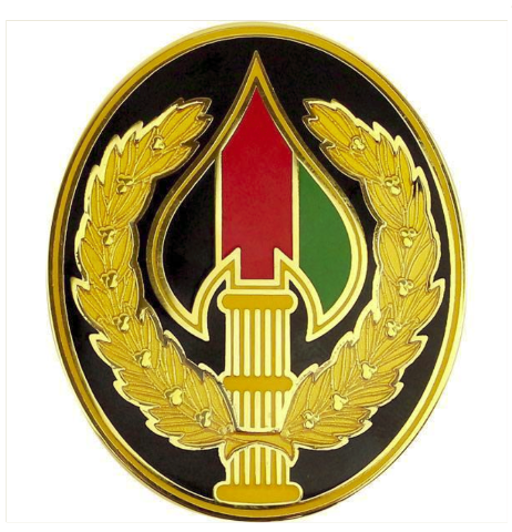 Vanguard ARMY COMBAT SERVICE ID BADGE: SPECIAL OPS JOINT TASK FORCE AFGHANISTAN
