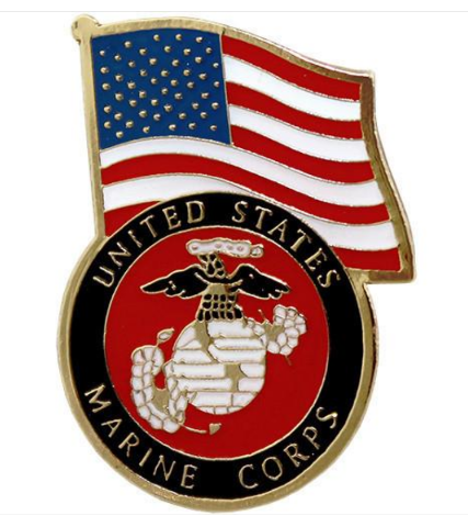 Vanguard MARINE CORPS LAPEL PIN: UNITED STATES FLAG WITH MARINE CORPS EMBLEM