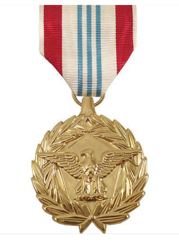 Vanguard FULL SIZE MEDAL DEFENSE MERITORIOUS SERVICE - 24K GOLD PLATED