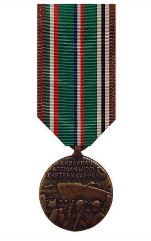 Vanguard MINIATURE MEDAL EUROPEAN AFRICAN MIDDLE EAST CAMPAIGN