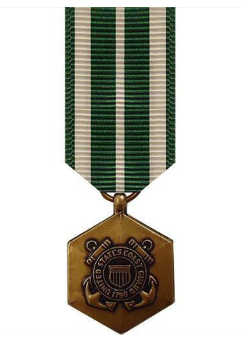 Vanguard MINIATURE MEDAL- 24K GOLD PLATED: COAST GUARD COMMENDATION