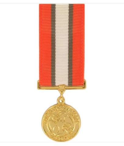 Vanguard MINIATURE MEDAL- 24K GOLD PLATED: MULTINATIONAL FORCE AND OBSERVER