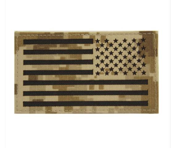 Vanguard FLAG PATCH: U.S. FLAG REVERSED FIELD - DESERT DIGITAL