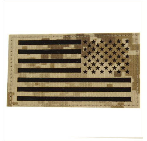 Vanguard FLAG PATCH: U.S. FLAG REVERSED FIELD - IR (INFRARED) - DESERT DIGITAL