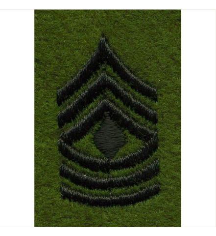 Vanguard ARMY LEADERSHIP RANK TAB: FIRST SERGEANT