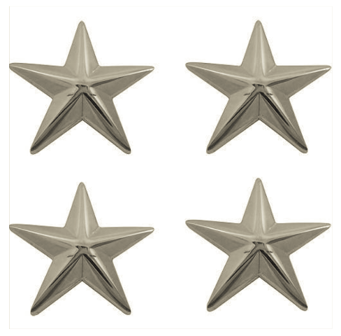 "Vanguard OFFICER STARS: NICKEL PLATED 1"""