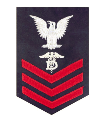 Vanguard COAST GUARD E6 RATING BADGE: DENTAL TECHNICIAN - BLUE