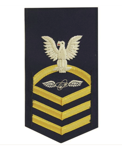 Vanguard COAST GUARD E7 RATING BADGE: AVIONICS TECHNICIAN - BLUE