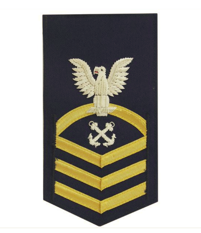 Vanguard COAST GUARD E7 RATING BADGE: BOATSWAIN MATE - BLUE