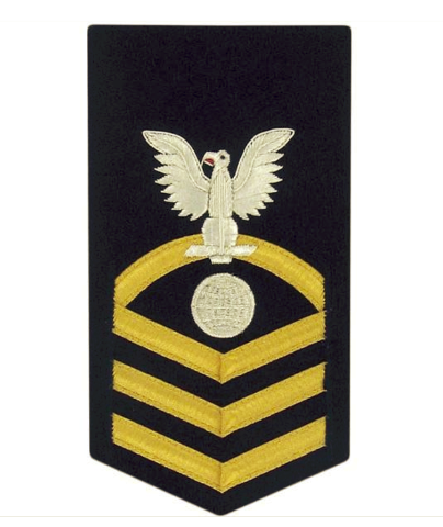 Vanguard NAVY E7 MALE RATING BADGE: ELECTRICIAN'S MATE VANCHIEF BLUE