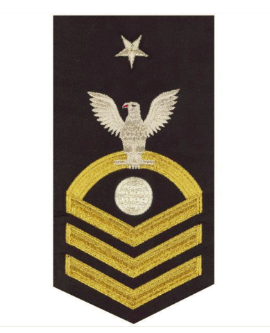 Vanguard NAVY E8 MALE RATING BADGE: ELECTRICIAN'S MATE - SEAWORTHY GOLD ON BLUE
