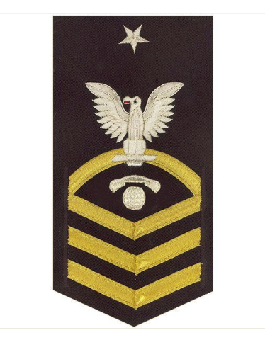 Vanguard NAVY E8 MALE RATING BADGE INTERIOR COMMS ELECTRICIAN VANCHIEF BLUE