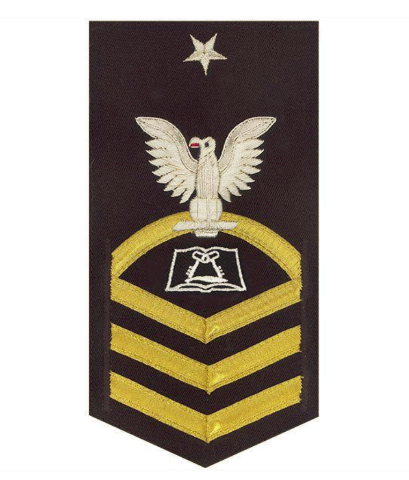 Vanguard NAVY E8 MALE RATING BADGE: CULINARY SPECIALIST - VANCHIEF ON BLUE
