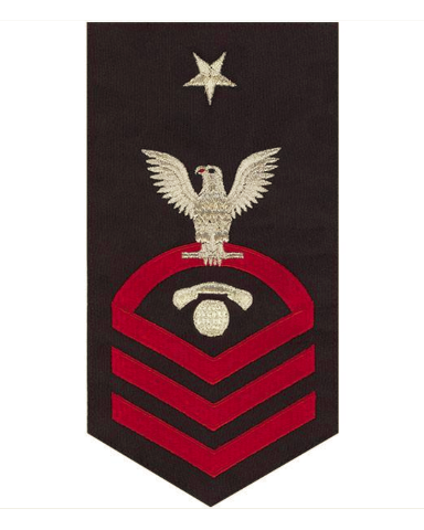 Vanguard NAVY E8 MALE BADGE INT. COMMUNICATIONS ELECTRICIAN - SEAWORTHY RED/BLUE