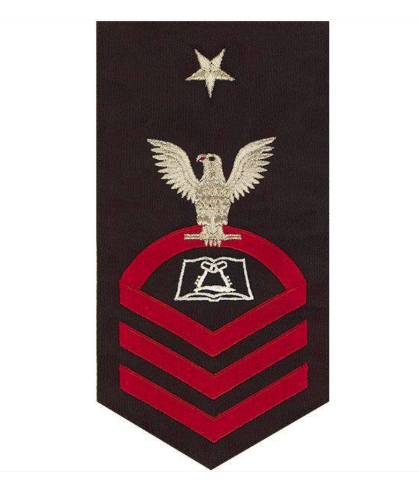 Vanguard NAVY E8 MALE RATING BADGE: CULINARY SPECIALIST - SEAWORTHY RED ON BLUE