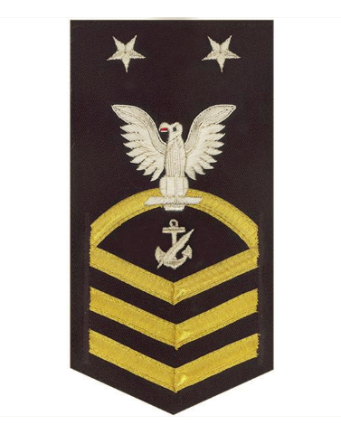 Vanguard NAVY E9 MALE RATING BADGE: NAVY COUNSELOR - VANCHIEF ON BLUE
