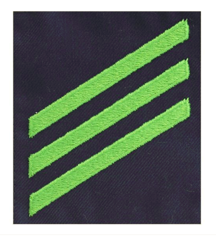Vanguard COAST GUARD RATING BADGE: GROUP RATE E3 AIRMAN - BLUE SERGE