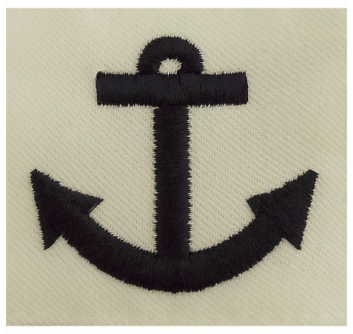 Vanguard NAVY RATING BADGE SEAMAN APPRENTICE - WHITE POPLIN FOR WORKING UNIFORMS