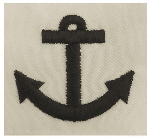 Vanguard NAVY RATING BADGE: SEAMAN APPRENTICE - WHITE CNT FOR DRESS UNIFORMS