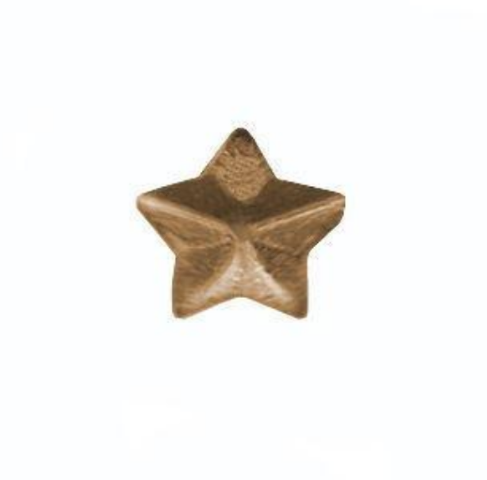 Vanguard NO PRONG MINIATURE MEDAL ATTACHMENT: 1/8 INCH BRONZE STAR