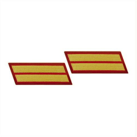 Vanguard MARINE CORPS SERVICE STRIPE: FEMALE - GOLD ON RED, SET OF 2