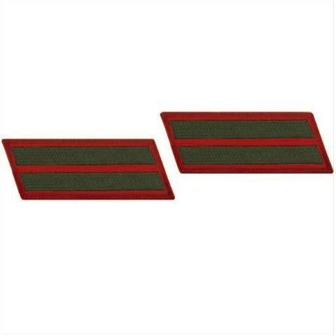 Vanguard MARINE CORPS SERVICE STRIPE: MALE - GREEN EMBROIDERED ON RED, SET OF 2
