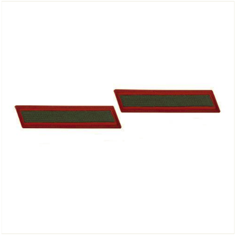 Vanguard MARINE CORPS SERVICE STRIPE: FEMALE - GREEN ON RED, SET OF 1