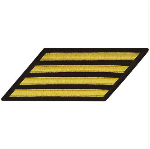 Vanguard NAVY ENLISTED HASH MARKS: GOLD LACE ON SERGE - SET OF 4