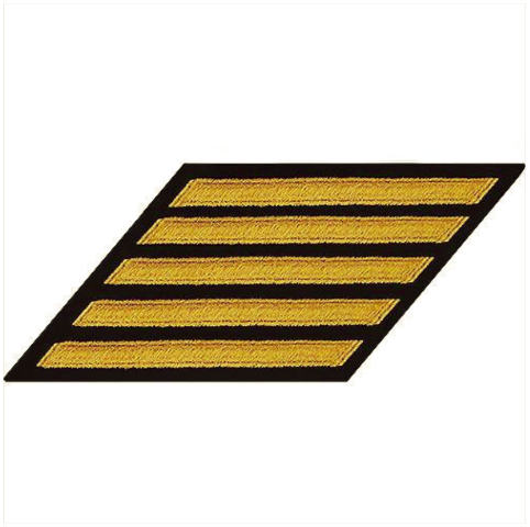 Vanguard NAVY CPO HASH MARKS: GOLD LACE ON BLUE - SET OF 5