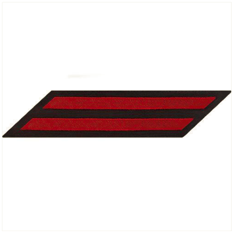 Vanguard NAVY CPO HASH MARKS: RED ON BLUE SERGE SET OF 2