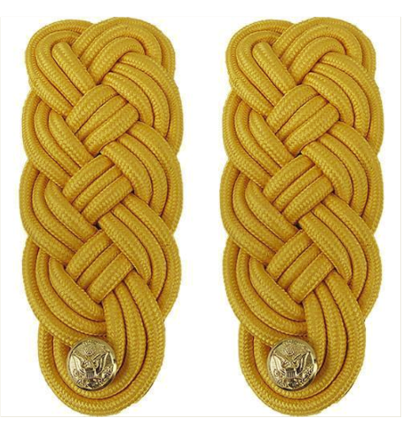 Vanguard ARMY SHOULDER KNOT: GOLD COLOR RAYON - MALE