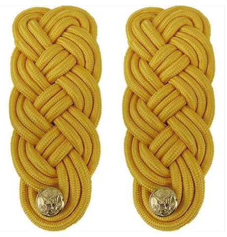 Vanguard ARMY SHOULDER KNOT: GOLD COLOR RAYON - FEMALE