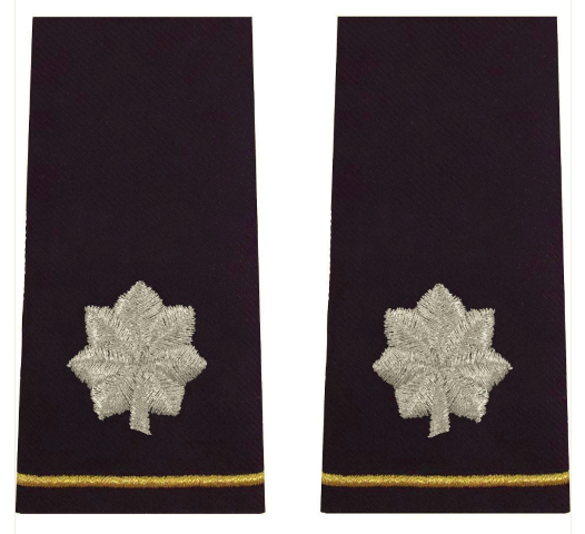 Vanguard ARMY EPAULET: LIEUTENANT COLONEL - LARGE