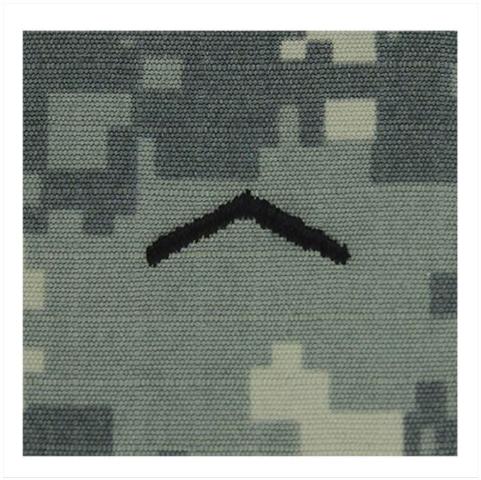 Vanguard ARMY ROTC ACU RANK W/HOOK CLOSURE : PRIVATE (PV2)