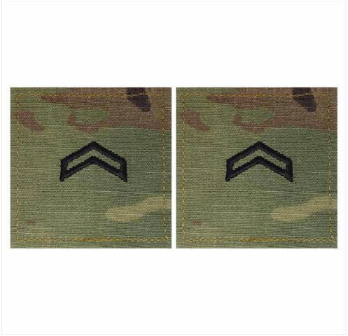 Vanguard ARMY ROTC OCP RANK W/HOOK CLOSURE : CORPORAL (CPL)