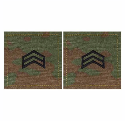 Vanguard ARMY ROTC OCP RANK W/HOOK CLOSURE : SERGEANT (SGT)