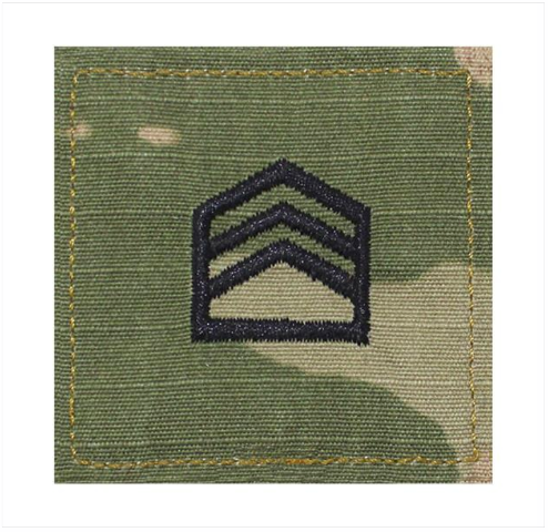 Vanguard ARMY ROTC OCP RANK W/HOOK CLOSURE : STAFF SERGEANT (SSGT)