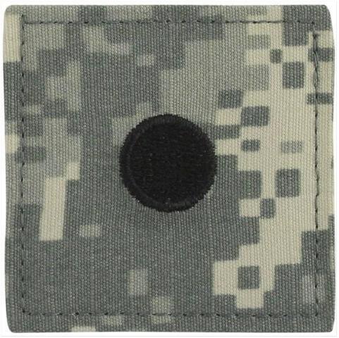 Vanguard ARMY ROTC ACU RANK INSIGNIA W/HOOK CLOSURE: (B) SECOND LIEUTENANT (2LT)