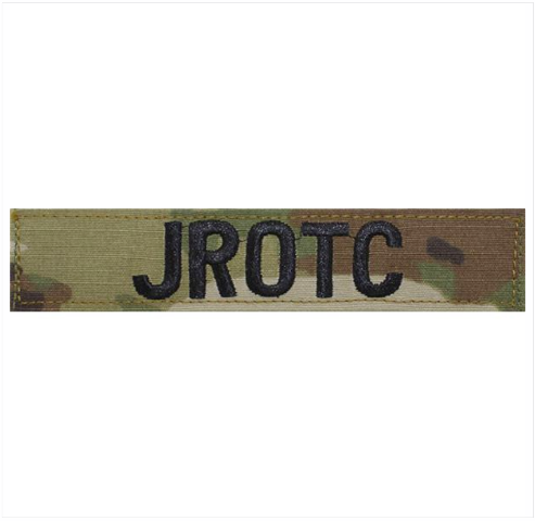 Vanguard ARMY JROTC NAME TAPE: JROTC - EMBROIDERED ON OCP WITH HOOK
