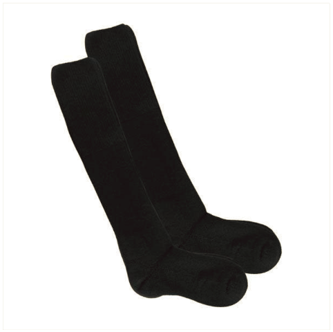 Vanguard BOOT SOCKS: THORLO - BLACK OVER-CALF - L