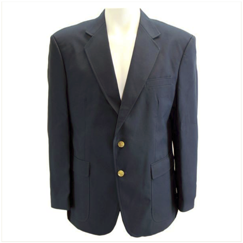 Vanguard MALE CUT SIMPLE NAVY BLUE BLAZER SIZE 44