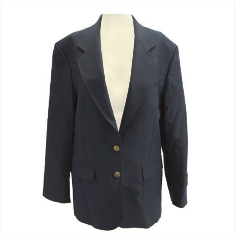 Vanguard FEMALE CUT SIMPLE NAVY BLUE BLAZER SIZE 8